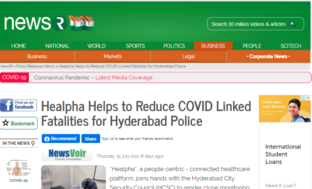 Healpha Helps to Reduce COVID Linked Fatalities for Hyderabad Police